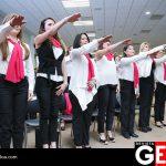Muy comprometidas las voluntarias del DIF tomando protesta
