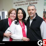 Sara de González, Adriana Vélez y Luis Gastélum