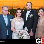 Francisco Javier Castillo Hern y María Graciela Vargas Luján junto a los recién casados