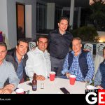 Roberto González, Eduardo Bañuelos, Ricardo González, Billy Barnes y Ray Velarde junto al festejado