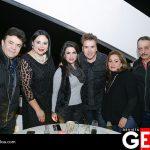 Flavio Sánchez, Blanca Dena, Lorena de Sánchez, Sergio Sánchez, María Esther de Salame y Víctor Salame