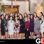Las anfitrionas de la reunión juntas por la felicidad de Salma